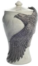 Pewter eagle cremation urn