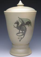 gothic dragon cremation urn ur