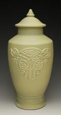 celery green celtic dragon urn