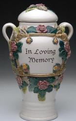In loving memory victorian memorial cremation urn