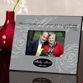 Personalized Gray Always Memorial Picture Frame