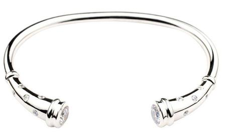 cz and silver cremation bracelet