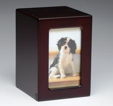 Wood picture fram tall pet urn