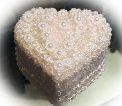 beaded heart shaped ring box