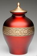 red brass cremation urn