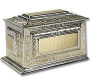 Brass chest cremation urn