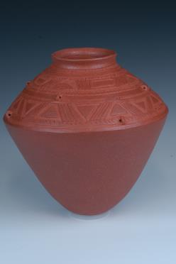 african clay cremation vessel