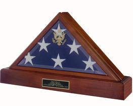 military flag and urn case
