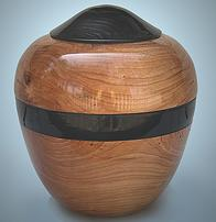 Cherry wood cremation vessel
