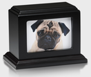Wood picture frame pet urn