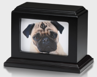 Dark Mahogany wood pet cremation urn