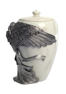 side of Pewter Angel' s Embrace cremation urn