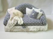 black and white Checked sofa box
