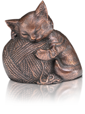 copper precious Kitty  Cat Urn
