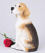 Beagle cremation figurine urn