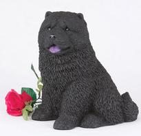 black chow dog urn