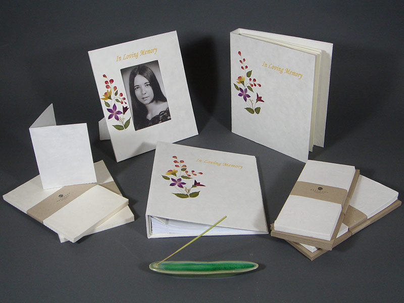 Memorial stationary set
