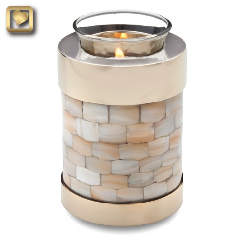 mother of pearl candle urn