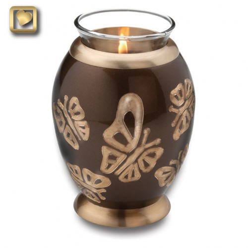 bronze butterfly candle urn