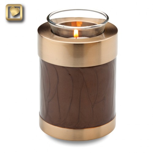 bronze pearlvotive candle urn