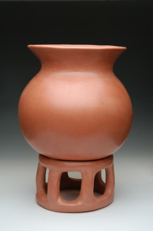 African earthenware cremation urn