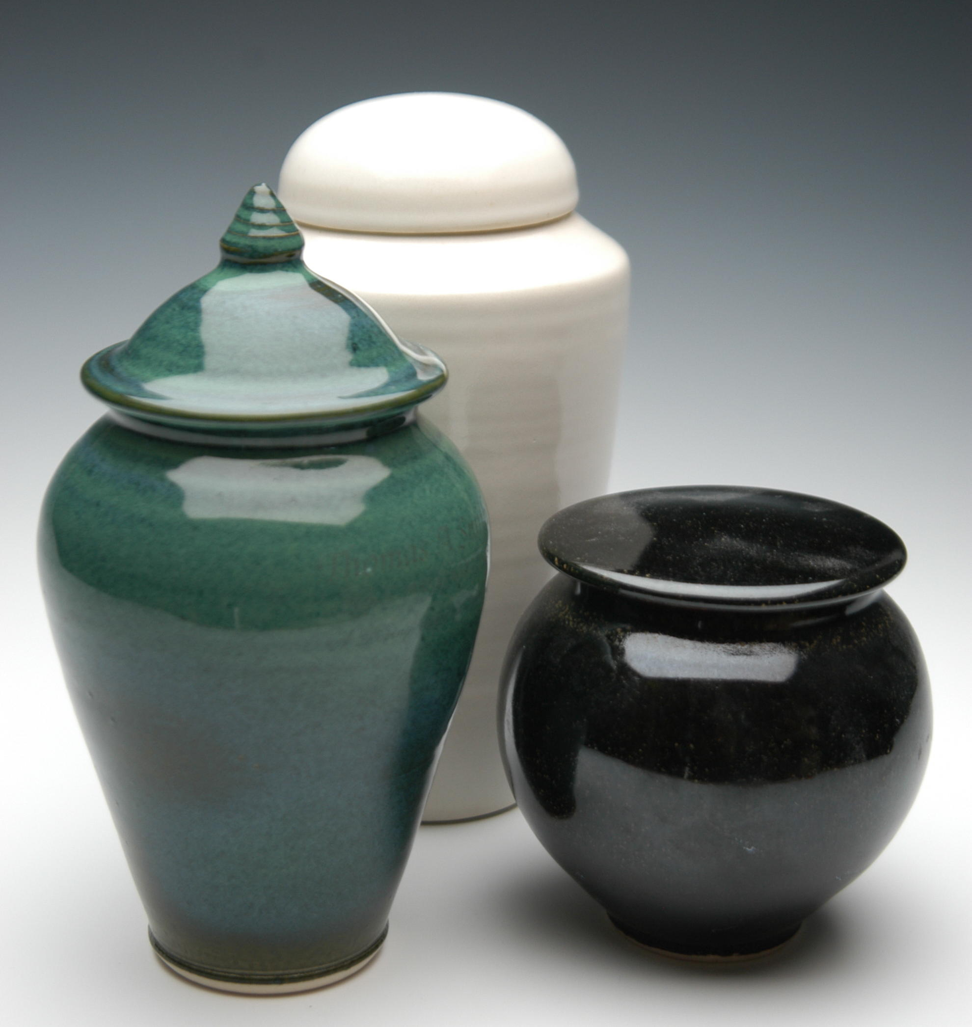 Plain ceramic urns