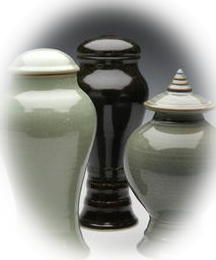 custom shape and color ceramic cremation urns