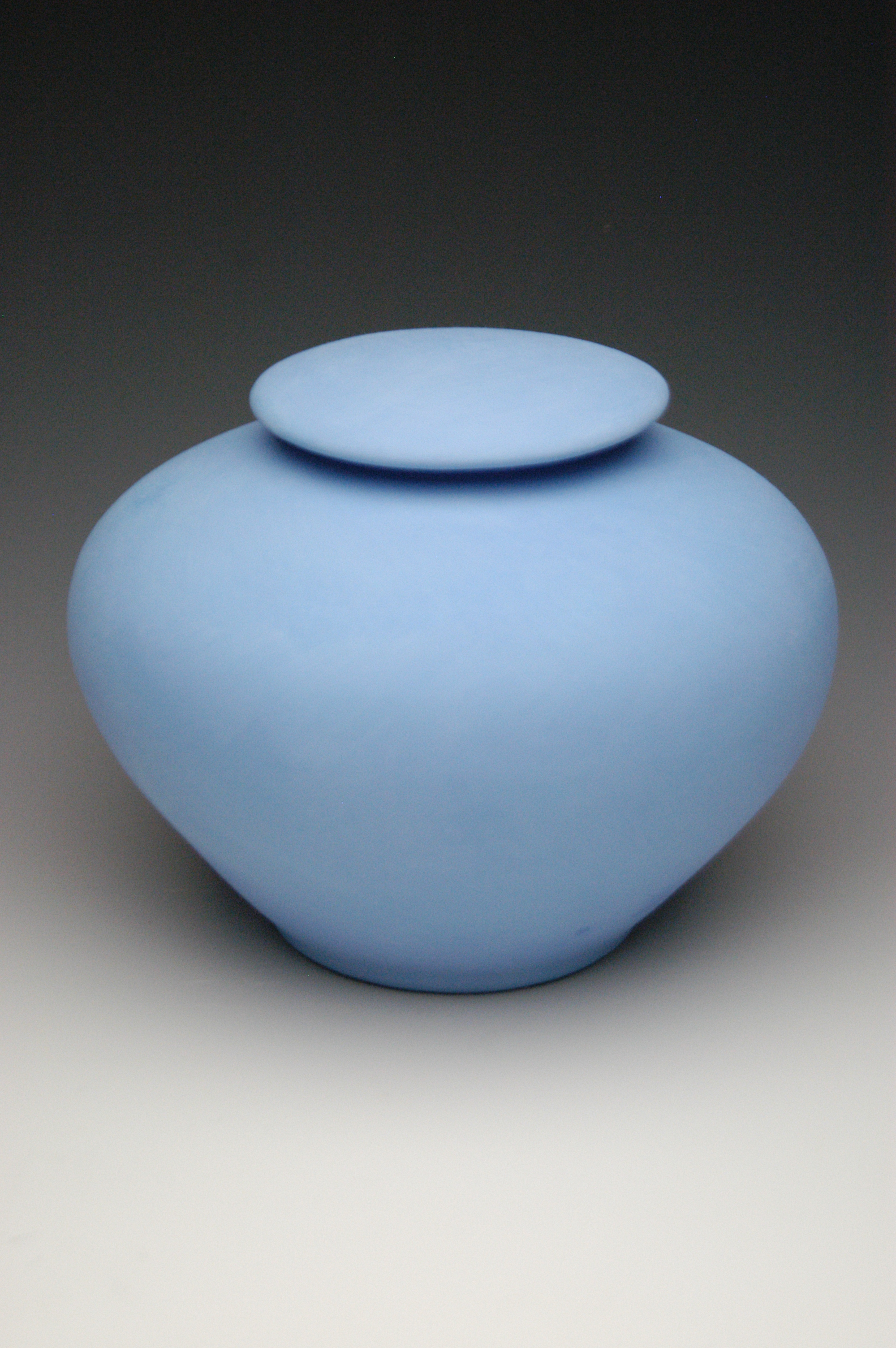 Pastel blue biodegadable cremation urn