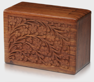 Carved tree of life urn box