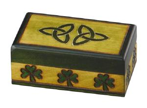 Wood Celtic Shamrock Urn