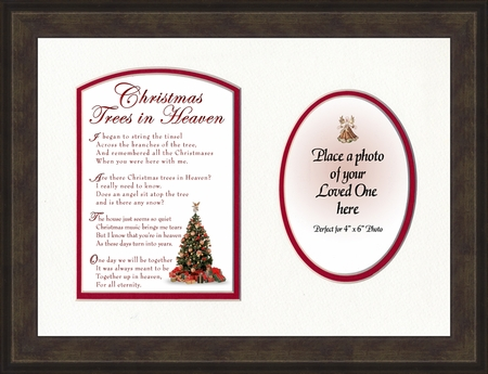 christmas memorial photo frame gift