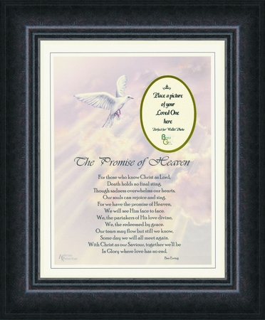 The promise of Heaven Memorial Photo Frame