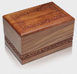 rosewood carved urn box
